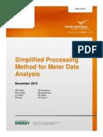 Simplified Processing Method for Meter Data Analysis