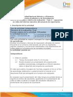 Guía de actividades y rúbrica de evaluación - Fase 4 - Exposición en video del informe ejecutivo del proyecto de exportación