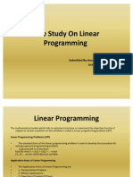 Case Study On Linear Programming