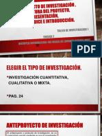anteproyecto DE INVESTIGACIÓN ,estructura del proyecto, presentación, TITULO , índice e introducción_UNIDAD 2