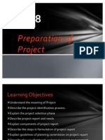 Preparation of project