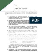 AFFIDAVIT COMPLAINT-COYOY