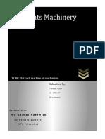 Oiling Mechanism of Flatlock Machine