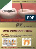 cavity prepration