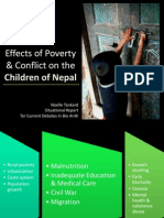 Effects of Poverty & Conflict on the Children of Nepal