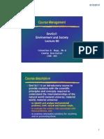 00 Lecture Envi Sci 1_Course Management