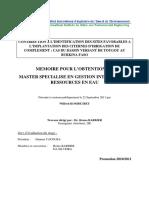 Contribution à l'identification des sites favorables à l'implantation des citernes d'irrigation de complément