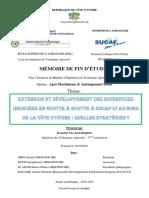 Extension et développement des superficies irrigués en goutte à goutte à SUCAF-CI au Nord de la Côte d'Ivoire
