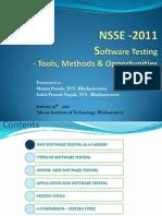 NSSE-2011-ManojPanda-SoftwareTesting
