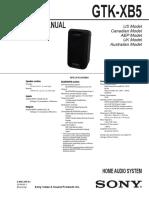 Sony Gtk-xb5 Ver. 1.0