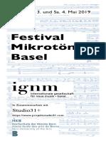 Festival Mikrotone Basel (3 Mai 2019)
