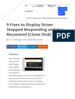 9 Fixes to Display Driver Stopped Responding and Has Recovered