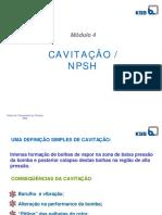 CAVITAÇÃO E NPSH