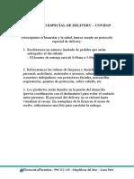 PROTOCOLO ESPECIAL DE DELIVERY