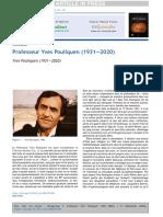 Hommage Pr Yves Pouliquen