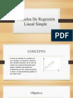 Modelos De Regresión Lineal Simple expoo