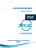 COSTOS HOTELEROS