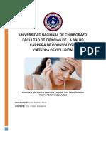 SIGNOS Y SÍNTOMAS DE LOS TRASTORNOS TEMPOROMANDIBULARES