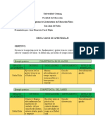 RESULTADOS DE APRENDIZAJE. EVALUACION EDUCATIVA