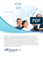 Microsoft Visual Studio 2010 Professional Datasheet