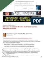 Carcass_ devastando Sweden Rock Festival antes de shows no Brasil