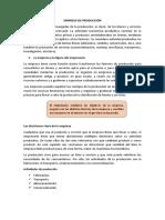 EMPRESA DE PRODUCCIÓN