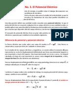 Guía No. 3. potencial Eléctrico
