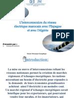 L'interconnexion du réseau électrique marocain avec l'Espagne et avec l'Algérie