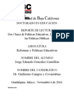 ACTIVIDAD 2 reporte de lectura reformas y políticas educativas