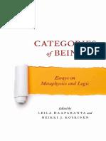 Leila Haaparanta, Heikki J. Koskinen - Categories of Being_ Essays on Metaphysics and Logic-Oxford University Press (2012)