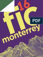 Catálogo del 16 Festival Internacional de Cine de Monterrey