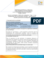 Guía de actividades y rúbrica de evaluación - Fase 1 -Los fundamentos del conocimiento científico - Elección de la temática general