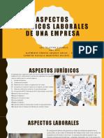ASPECTOS JURIDICOS LABORALES DE UNA EMPRESA
