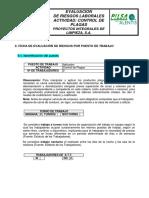 EVALUACION DE RIESGOS LABORALES ACTIVIDAD_ CONTROL DE PLAGAS PROYECTOS INTEGRALES DE LIMPIEZA, S.A.
