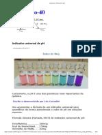 Indicador universal de pH