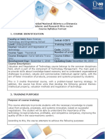 Syllabus of the course Valuation and Negotiation of Technology