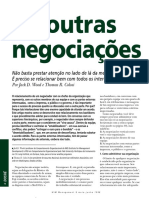 Artigo 01 - As outras negociações