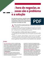 Artigo 06 - Na hora de negociar as pessoas são o problema e a solução