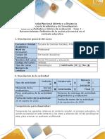 Guía de actividades y Rúbrica de evaluación--Fase 1- Reconocimiento- Reflexionar sobre los procesos educativos.