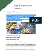 Protocolo Apoyo Sistema Inmunologico en Casa Contra El Virus A
