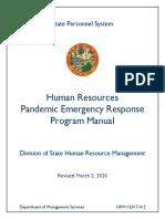 2020_Human_Resources_Pandemic_Emergency_Response_ProgramManual