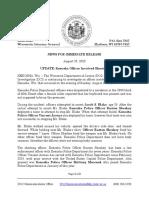 Wisconsin DOJ Release