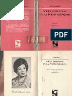 Pla, Josefina (ed.) (1982) Voces Femeninas en la poesía paraguaya