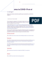 ¡Detengamos la COVID-19 en el trabajo!