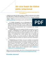 Diseñando una base de datos en el modelo relacional