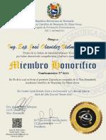 RECONCIMIENTO A ING. JOSE VIELMA GUTIERREZ academia venezuela
