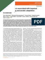 Hiperglicemia asociada con daño en la señalizacion muscular y adaptacion aerobica al ejercicio McDonald et al 2020