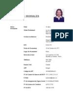 Currìculum Milagros Morales Saavedra