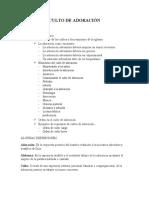 CULTO DE ADORACION