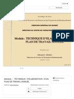 Module _ TECHNIQUE D'ELABORATION D'UN PLAN DE TRAVAIL ANNUEL - ppt télécharger